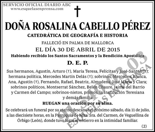 Rosalina Cabello Pérez